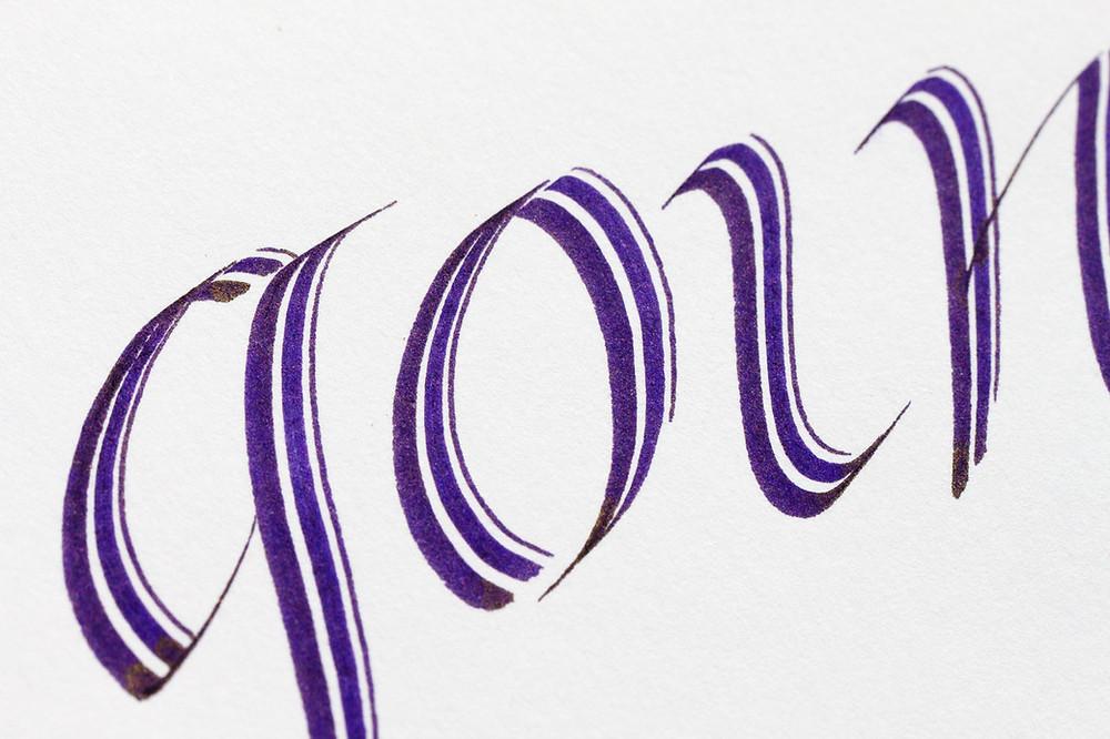 """Schriftzug """"going"""" mit """"Purple Rain"""" und einer Pilotpen geschrieben"""