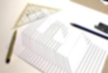 3D Handlettering Buchstabe E