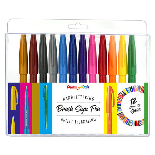 Pentel Brush Sign Pen Set 1