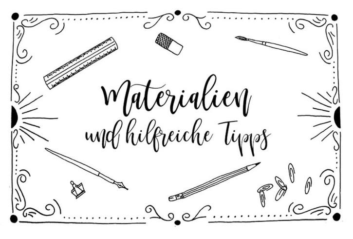 Handlettering Materialien und hilfreiche Tipps