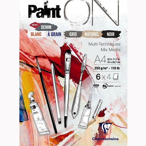Paint ON Block mit 24 Blatt