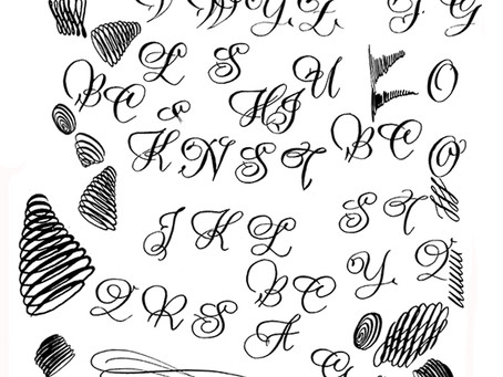 Aufwärmübungen in Kalligrafie und Handlettering