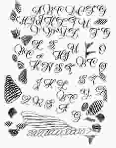 Aufwärmübungen und Buchstaben für Kalligrafie