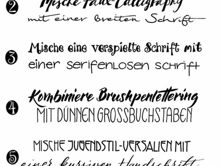 Kombination von Schriftarten für mein Handlettering