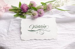 Tischkarte mit Ornament