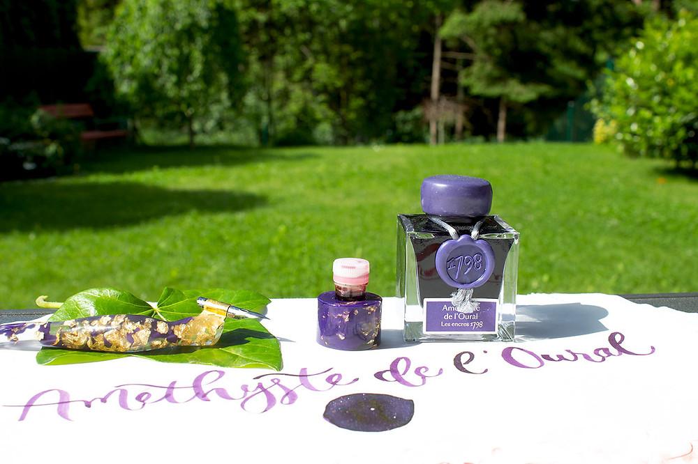 Améthyste de l´Oural Schimmertinte violett von J.Herbin