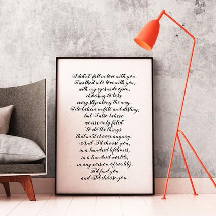 Kalligrafisches Gedicht digitalisiert