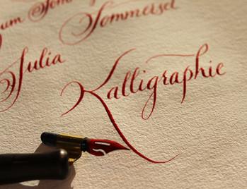 Werkstätte für Kalligrafie Wunschbriefe