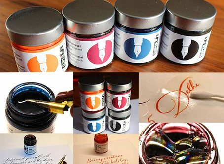 Wunschbriefes Tintentest - Wasserfeste Super5 Tinten