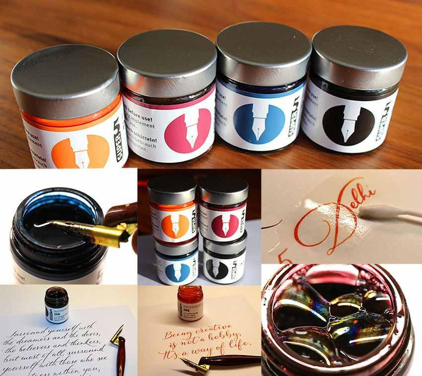 Test wasserfester Tinten von Fa. Super5