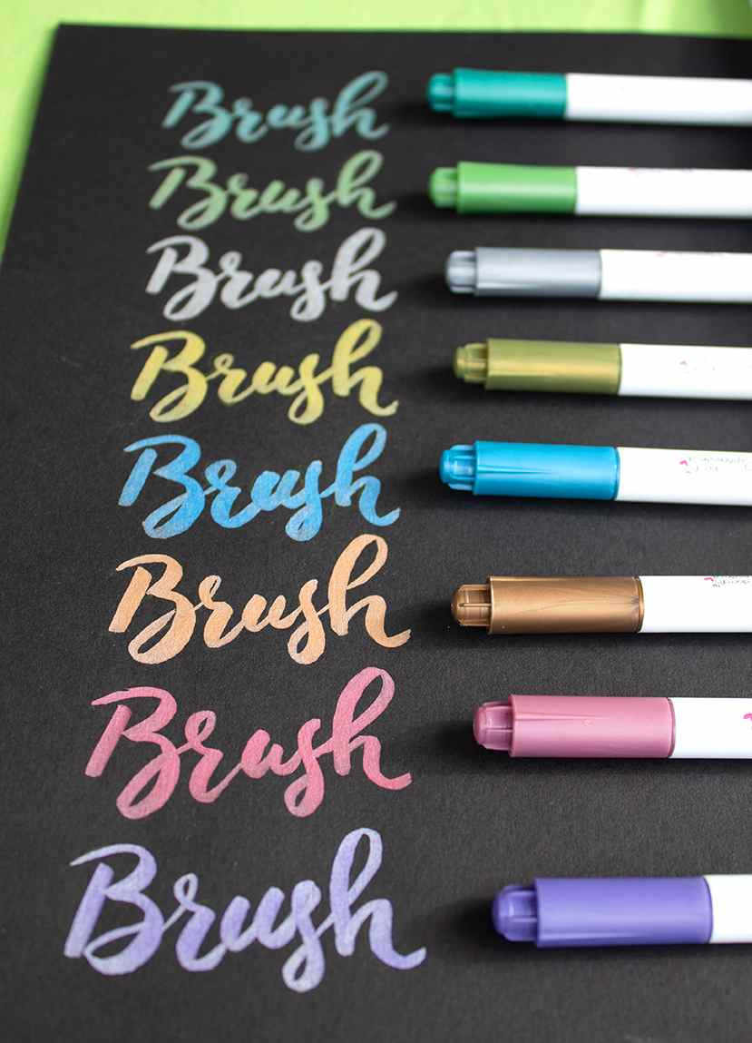 Docrafts Papermania Fluid Metallic Brush Markers
