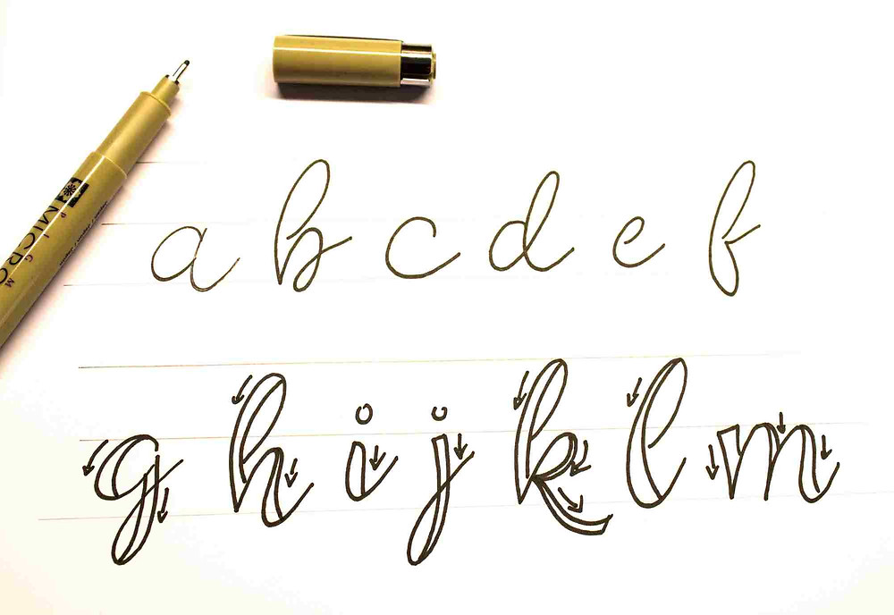 Tutorial Faux Calligraphy
