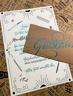 Gutschein Handlettering-Workshop