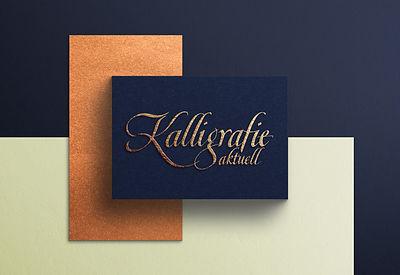 Kalligrafisches Logo für ein Magazin