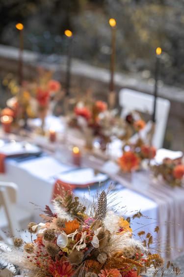 Hochzeitstisch Dekoration