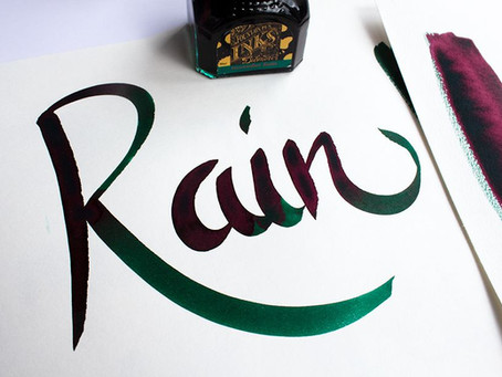 Diamine - November Rain - Wunschbriefes Tintentest