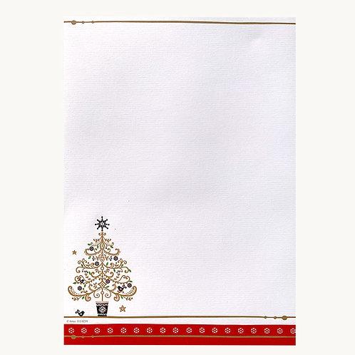 """Designpapier """"Weihnachtsbaum"""" DIN A4   5 Blatt"""