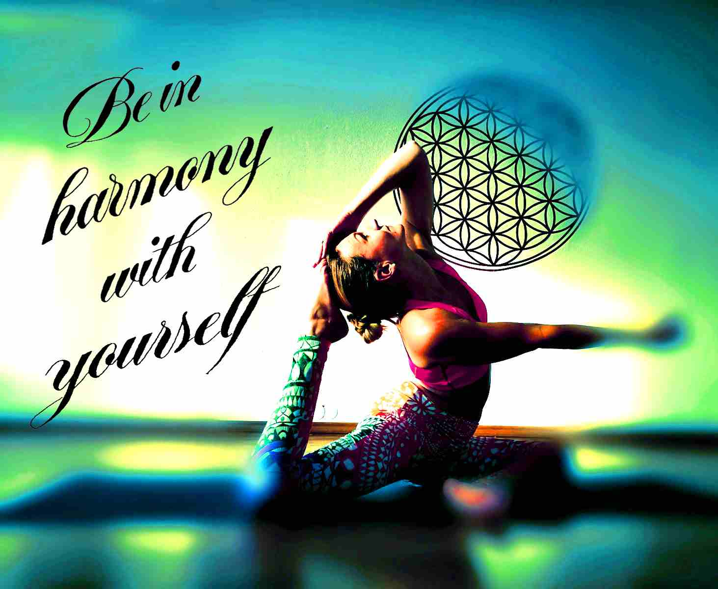 Schriftzug für Yoga-Institut