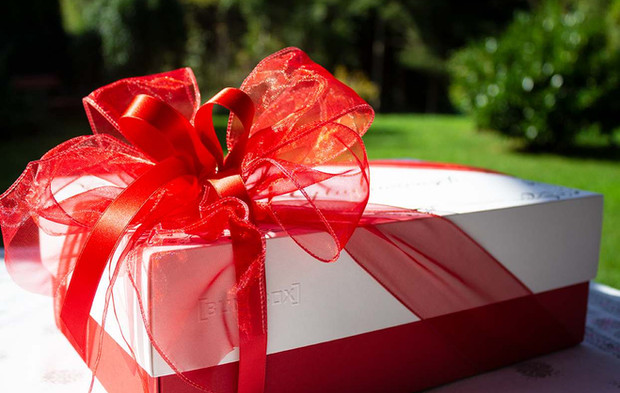 Geschmückte Geschenkschachtel
