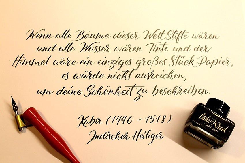 Wunschbriefe Tintentest Dufttinte Kalligrafie Calligraphy Inktest