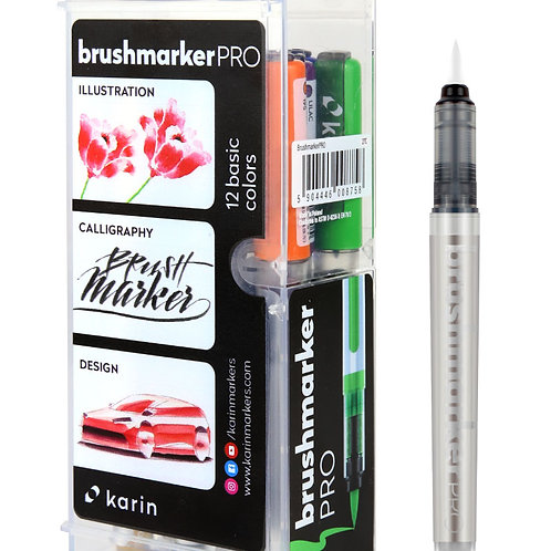 Karin BrushmarkerPRO   Basic Set 11 Farben + 1 Blender