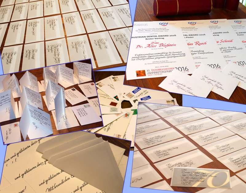 Kuvertbeschriftung und Briefsendunge
