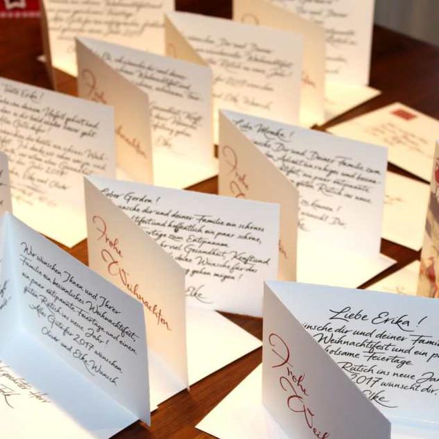 Handgeschriebene Weihnachtspost