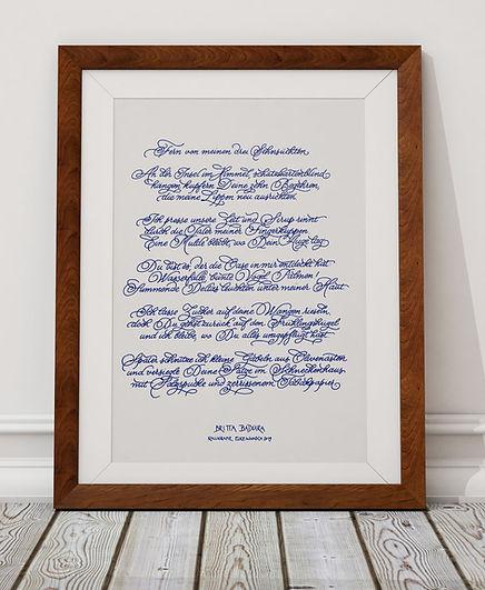 Kalligrafisches Gedicht