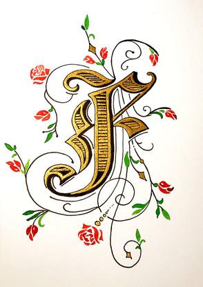 Ornamentbuchstabe F