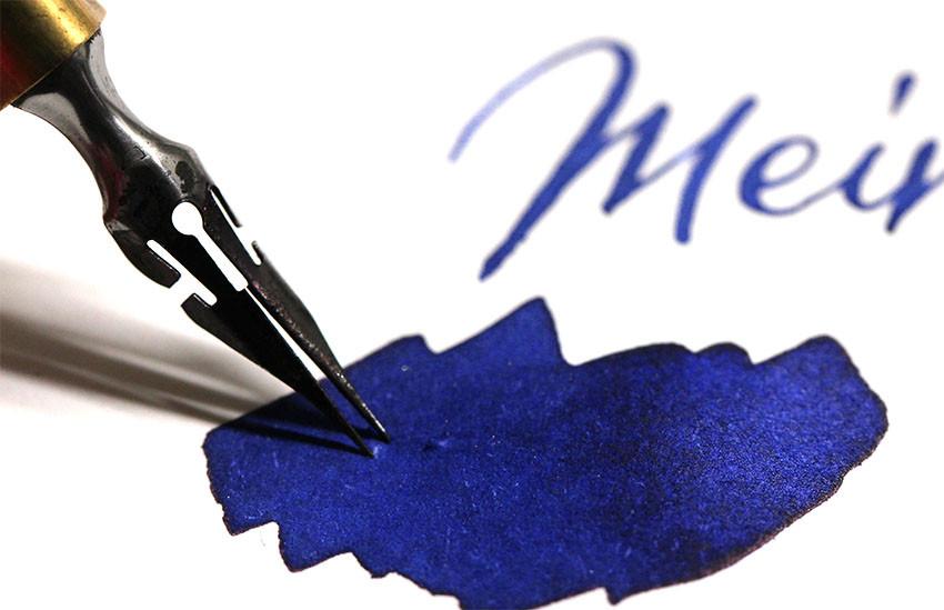 Wunschbriefe Tintentest Inktest Blueberry Blaubeere Duftttinte Calligraphy Handlettering Kalligrafie