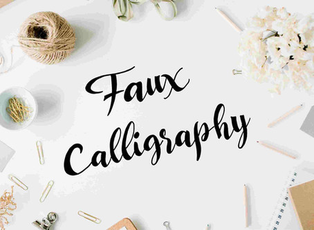 Wunschbriefes Tutorial - Faux Calligraphy