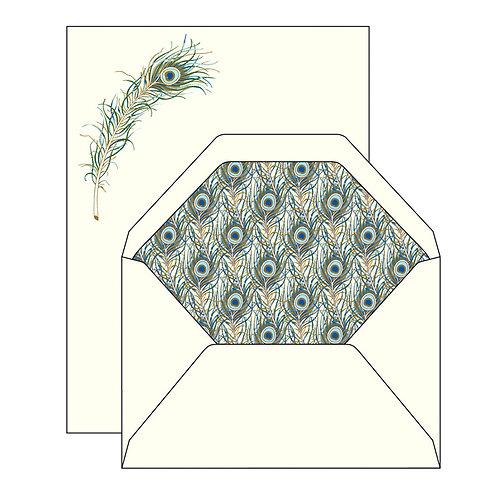 "Briefpapier-Set ""Pfauenauge"""