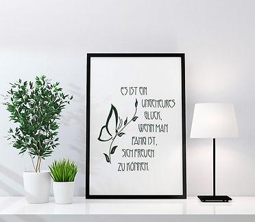 Zitat in Art Nouveau Jugendstil