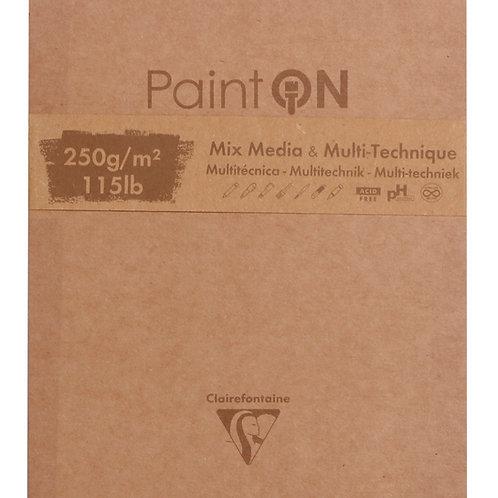 Paint'ON Block | 50 Blatt | 13,3 x 15,7 cm, 250g - Sortiert
