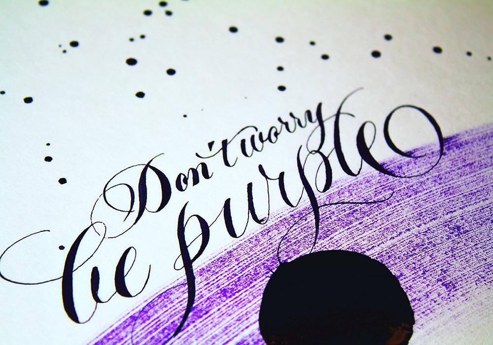 Don´t worry, be purple Améthyste de l´Oural J. Herbin