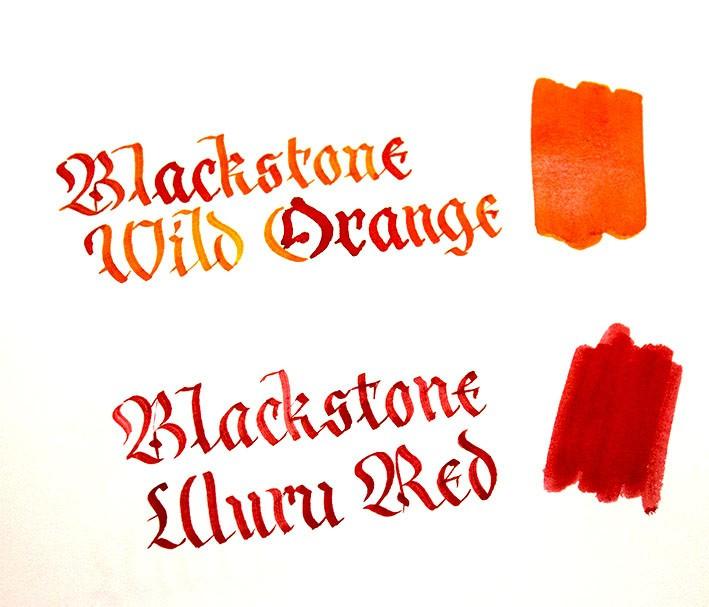 Blackstone Tinte Wild Orange und Uluru Red