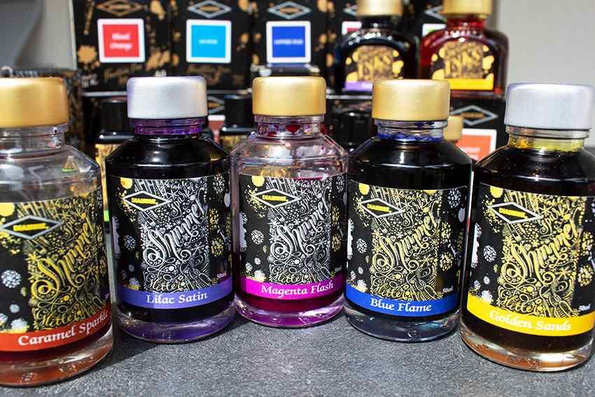 Shimmer inks Diamine