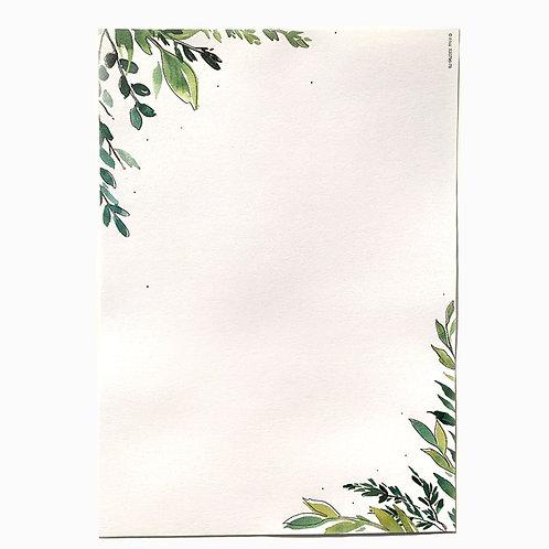 "Designpapier ""Greenery 1"" DIN A4   5 Blatt"