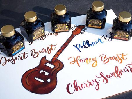 Wunschbriefes Tintentest: Gitarrentinten von Diamine