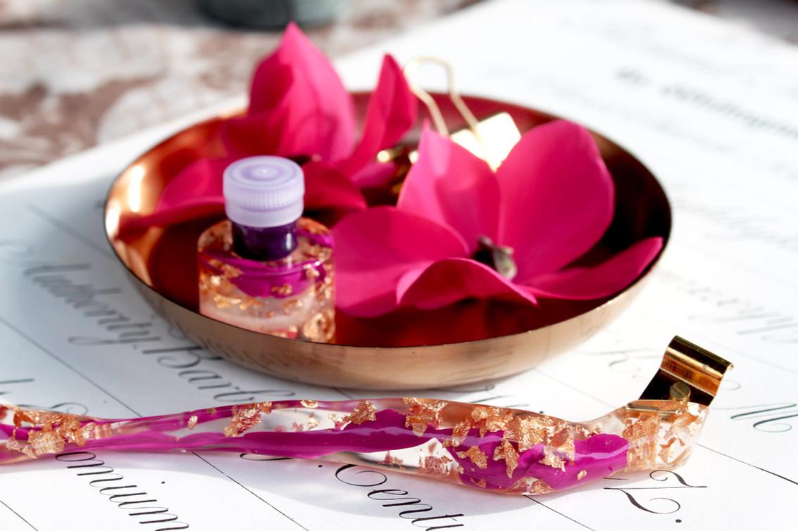 Obliquefederhalter pink