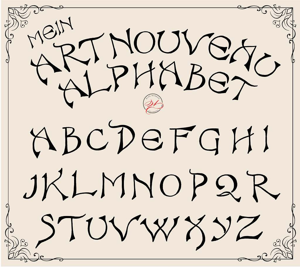 Art nouveau Alphabet 2 by Elke Wunsch