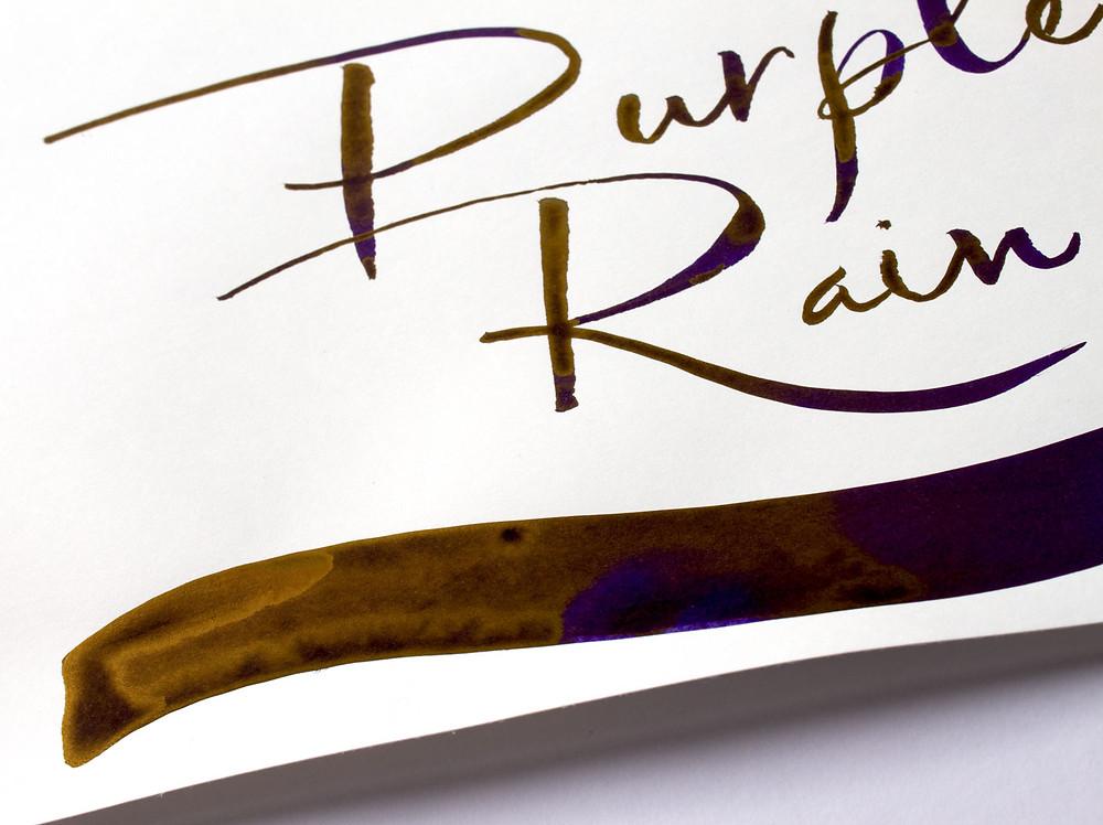 """Diamine Tinte """"Purple Rain"""" mit wunderschönem Goldsheen"""