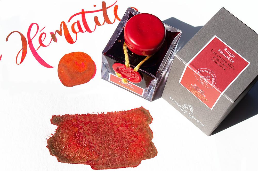 Rouge Hématite Schimmertinte aus dem Hause J. Herbin