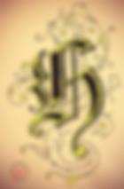 Ornamentbuchstabe H Ornamental letter H