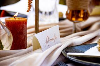 Kalligrafische Tischkärtchen