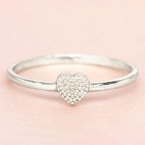 Ring Heart Silber
