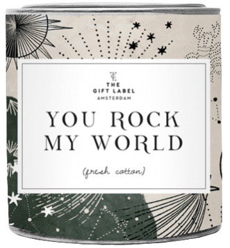"Duftkerze ""You rock my world"" - The Gift Label"