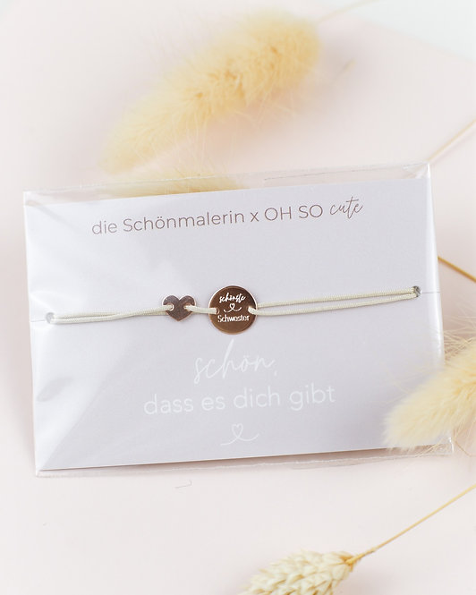 """Armband """"Schönste Schwester"""""""