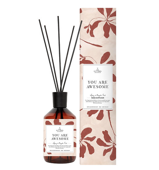 "Reed Diffusor  ""You are awesome"" - Spicy and Royal oudh - The Gift Label"