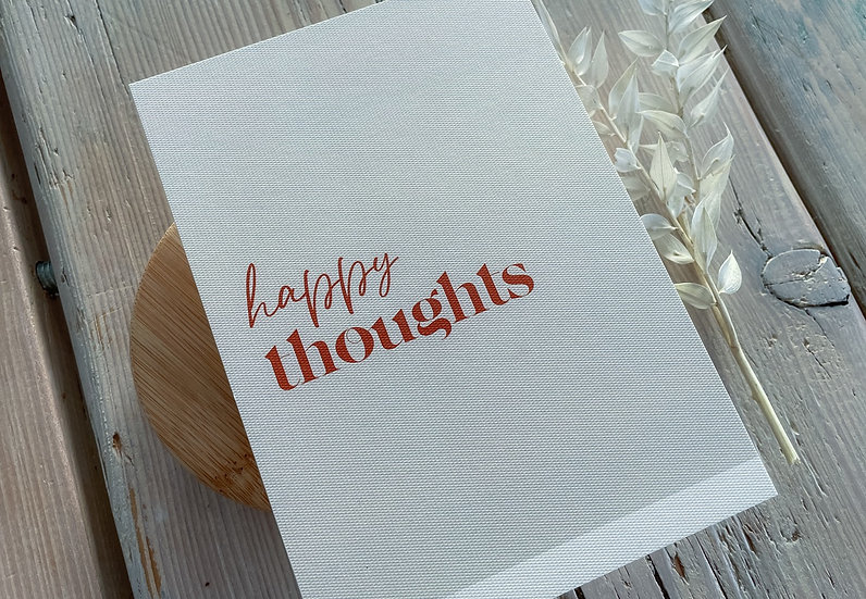 "Karte ""Happy thoughts"""